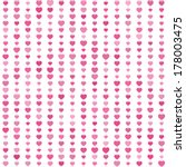 cute seamless pattern with pink ... | Shutterstock .eps vector #178003475