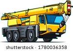 cartoon truck crane icon.... | Shutterstock .eps vector #1780036358