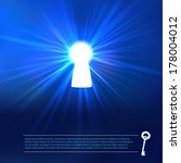 keyhole lighting with key and... | Shutterstock .eps vector #178004012