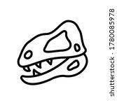 dinosaur  museum icon. simple...