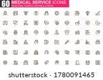 medical service thin line icon...
