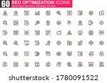 seo optimization thin line icon ...