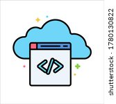 cloud coding icon vector design....