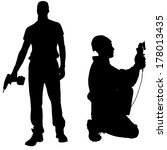 vector silhouettes man with... | Shutterstock .eps vector #178013435