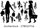 vector silhouette of a woman... | Shutterstock .eps vector #178014716