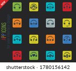 headphones web icons for user...