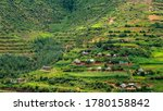 Village On Terraces In The...