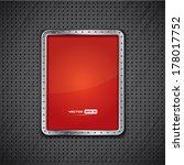 vector background with metal... | Shutterstock .eps vector #178017752