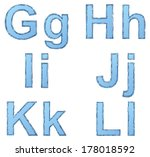 vector drawing font isolated on ... | Shutterstock .eps vector #178018592