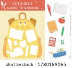 vector back to school cut and... | Shutterstock .eps vector #1780189265