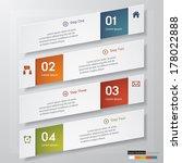 design clean number banners... | Shutterstock .eps vector #178022888
