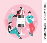 podcast. vector illustration in ... | Shutterstock .eps vector #1780245488
