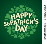 typographic saint patrick day... | Shutterstock .eps vector #178029065