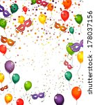 celebration card   vector | Shutterstock .eps vector #178037156