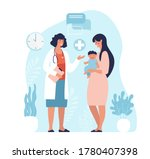 mom and child are examined by a ...   Shutterstock .eps vector #1780407398