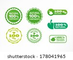 label natural components | Shutterstock .eps vector #178041965