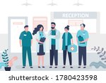 group of various doctors and... | Shutterstock .eps vector #1780423598