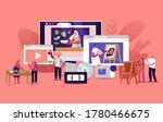 characters watch video courses... | Shutterstock .eps vector #1780466675