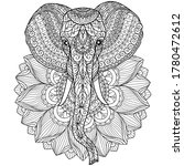 Elephant And Lotus Flower....