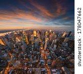 new york city skyline at sunset ... | Shutterstock . vector #178047662