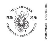 Oni Mask Ball Phyton Line Logo...
