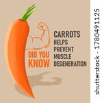 did you know carrots helps... | Shutterstock .eps vector #1780491125