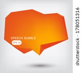 abstract speech bubble made... | Shutterstock .eps vector #178051316
