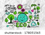 Doodles Eco Idea  On Crumpled...