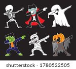 funny cartoon skeleton  dracula ... | Shutterstock .eps vector #1780522505