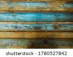 Wooden Background In Blue....