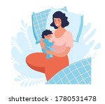a young mother sleeps with a... | Shutterstock .eps vector #1780531478