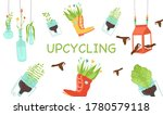 zero waste  upcycling craft... | Shutterstock .eps vector #1780579118