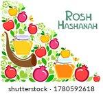 rosh hashanah  jewish new year... | Shutterstock . vector #1780592618