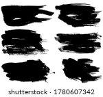 set of vector brush strokes....   Shutterstock .eps vector #1780607342