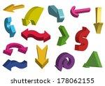 3d arrows. vector illustration. | Shutterstock .eps vector #178062155