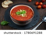 Red Gazpacho Soup Made Of...