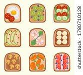 toast breackfast vector... | Shutterstock .eps vector #1780710128