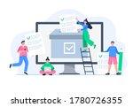 people voting online. men and... | Shutterstock .eps vector #1780726355