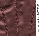 brown leather texture  stitch  | Shutterstock . vector #178072988