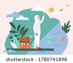 scientist in special uniform... | Shutterstock .eps vector #1780741898