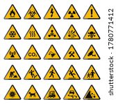 set of warning signs. triangle... | Shutterstock .eps vector #1780771412