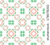 seamless pattern with strawberry | Shutterstock .eps vector #178078202