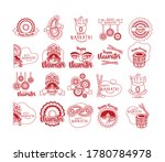 bundle of happy navratri...   Shutterstock .eps vector #1780784978