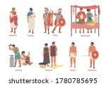ancient rome social hierarchy... | Shutterstock .eps vector #1780785695