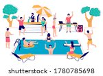 swimming pool party vector...   Shutterstock .eps vector #1780785698
