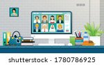 male and female workers...   Shutterstock .eps vector #1780786925