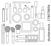 set of make up products in... | Shutterstock .eps vector #178078856
