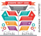 infographic business concept  ... | Shutterstock .eps vector #178080722