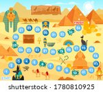 play egypt board game vector... | Shutterstock .eps vector #1780810925