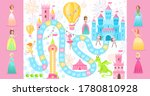 fairy princess board game... | Shutterstock .eps vector #1780810928